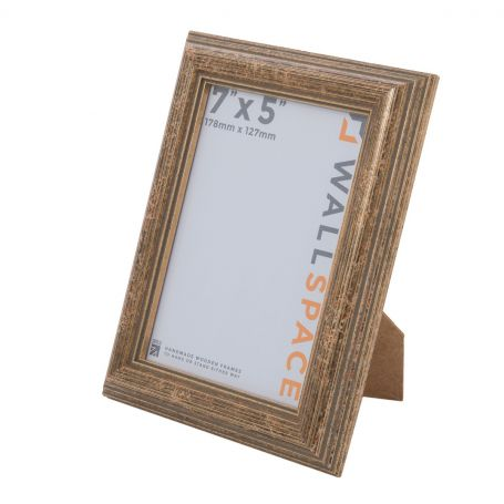 """7"""" x 5"""" - Speckled Gold Wooden Photo Frame"""