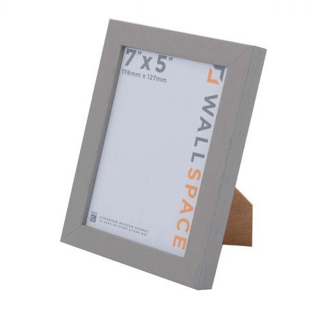 7 x 5 Modern Grey Wooden Photo Frames