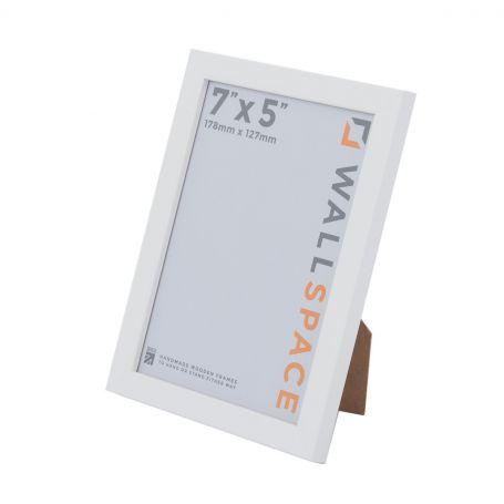 """7"""" x 5"""" - 15mm Matt White Photo Frame"""