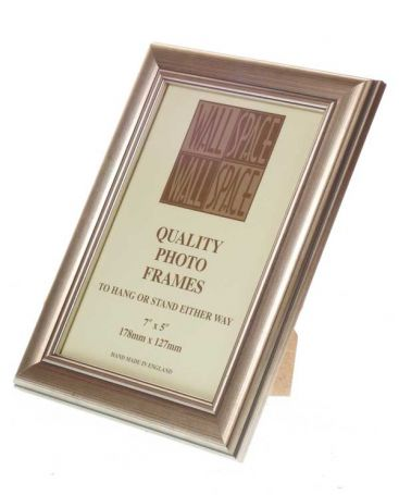 "7"" x 5"" - Deluxe Silver Wooden Photo Frame"
