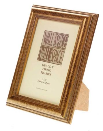 "7"" x 5"" - Speckled Gold Wooden Photo Frame"