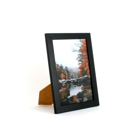 10 x 7 - 25mm Smooth Matt Black Photo Frames