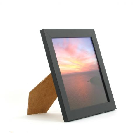 8 x 8 - 25mm Smooth Matt Black Square Photo Frames