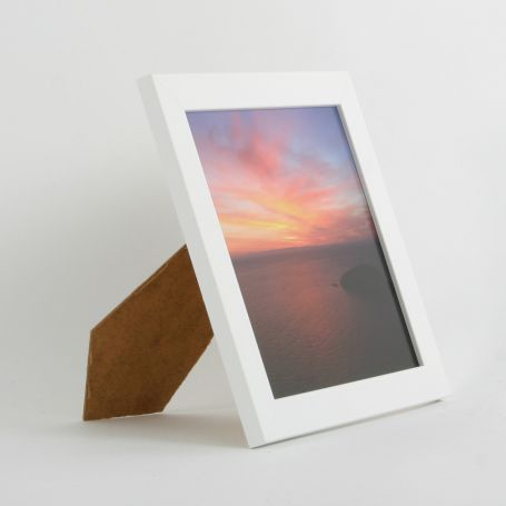 8 x 8 - 25mm Smooth Matt White Square Photo Frames