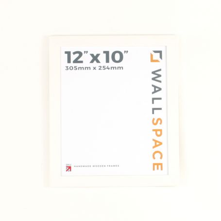 "12"" x 10"" Photo Frame in 25mm White"
