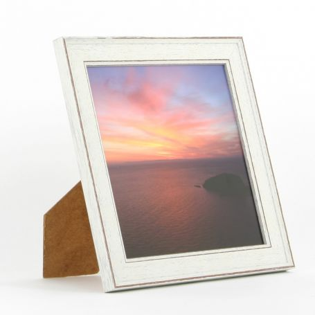 8 x 8 - Vintage Shabby Chic White Square Photo Frames
