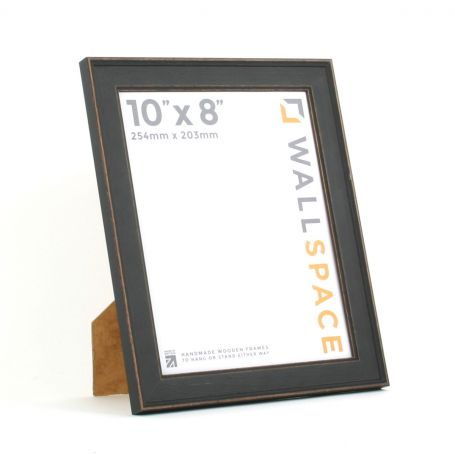 10 x 8 - Vintage Shabby Chic Distressed Frame - Black