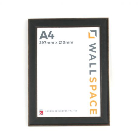 A4  - Vintage Shabby Chic Distressed Frame - Black