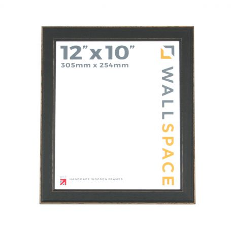12 x 10 - Vintage Shabby Chic Distressed Frame - Black