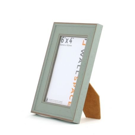 6 x 4 - Vintage Shabby Chic Distressed Frame - Green