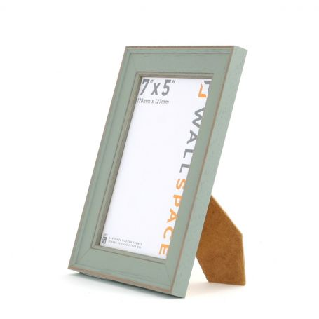 7 x 5 - Vintage Shabby Chic Distressed Frame - Green