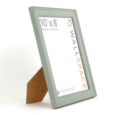10 x 8 - Vintage Shabby Chic Distressed Frame - Green