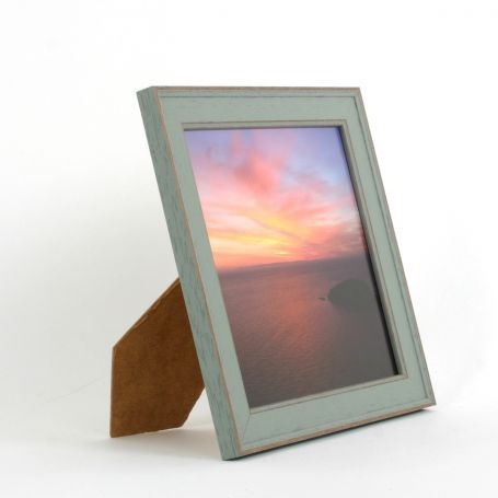 8 x 8 - Vintage Shabby Chic Green Square Photo Frames