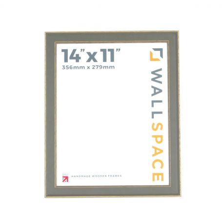 14 x 11 - Vintage Shabby Chic Distressed Frame - Grey