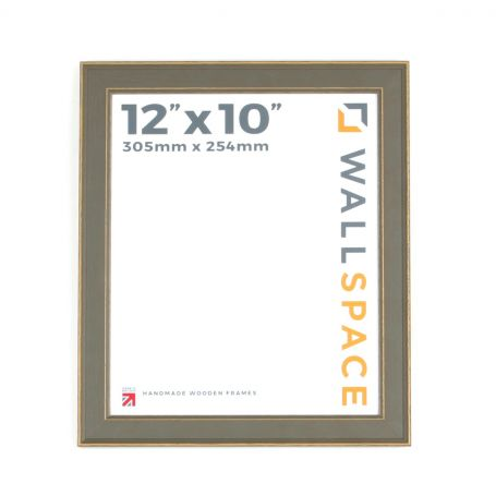 12 x 10 - Vintage Shabby Chic Distressed Frame - Grey