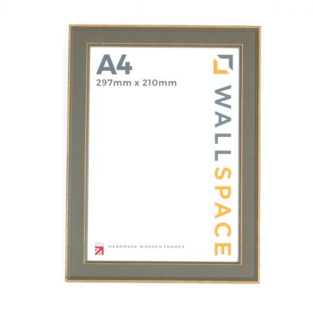 A4  - Vintage Shabby Chic Distressed Frame - Grey