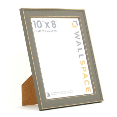 10 x 8 - Vintage Shabby Chic Distressed Frame - Grey