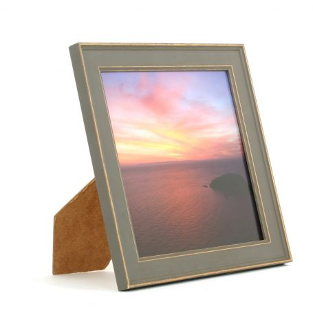 8 x 8 - Vintage Shabby Chic Grey Square Photo Frames