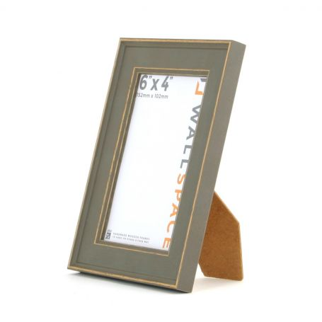 6 x 4 - Vintage Shabby Chic Distressed Frame - Grey