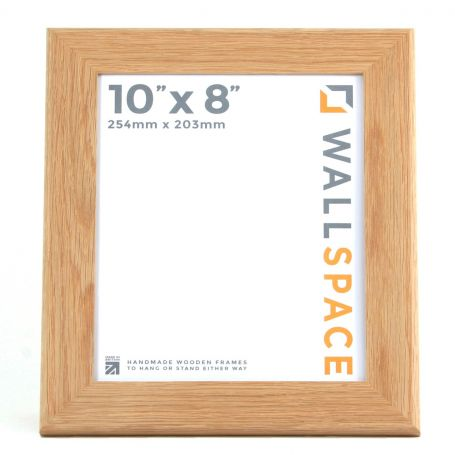 Wide Solid Oak Photo Frame 10x8