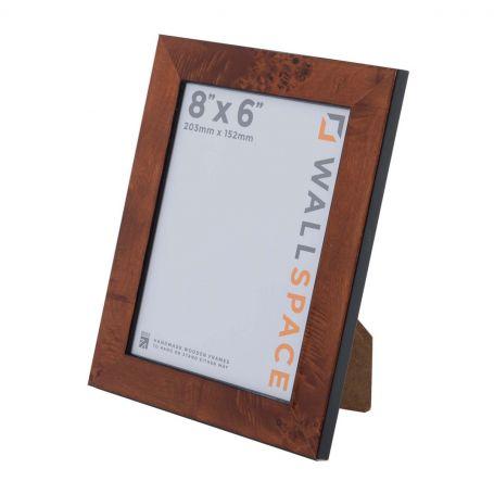 8 x 6 Gloss Walnut Photo Frames