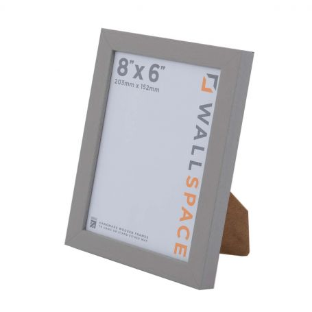 8 x 6 Modern Grey Wooden Photo Frames