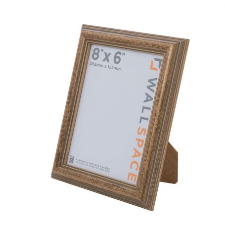 """8"""" x 6"""" - Speckled Gold Wooden Photo Frame"""