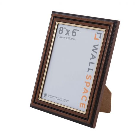 8 x 6 Traditional Brown Frame