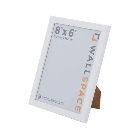 """8"""" x 6"""" - 15mm Matt White Photo Frame"""