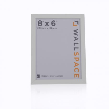 "8"" x 6"" - 25mm Smooth Matt White Photo Frame"