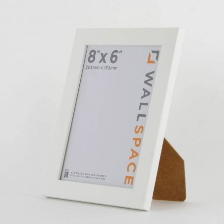 "8"" x 6"" - 15mm Matt White Photo Frame"