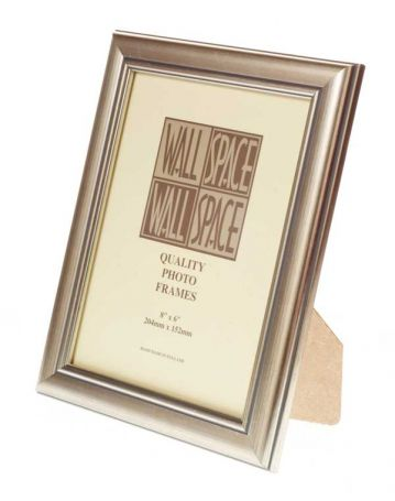 "8"" x 6"" - Deluxe Silver Wooden Photo Frame"