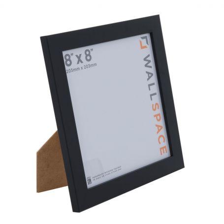 8 x 8 - 25mm Smooth Matt Black Square Photo Frames
