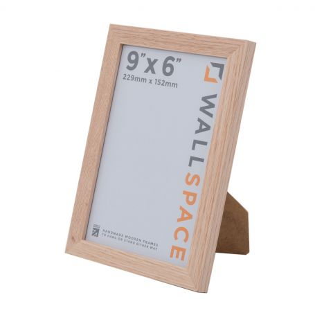 9 x 6 - 21mm Solid Oak Photo Frames