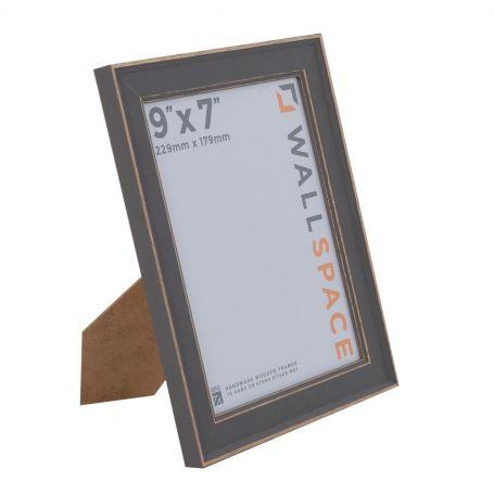 9 x 7 - Vintage Shabby Chic Distressed Frame - Grey