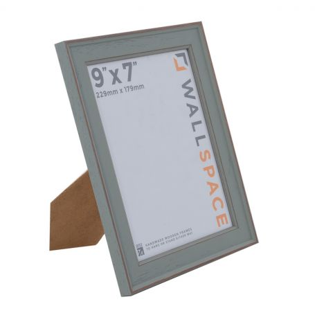 9 x 7 - Vintage Shabby Chic Distressed Frame - Green
