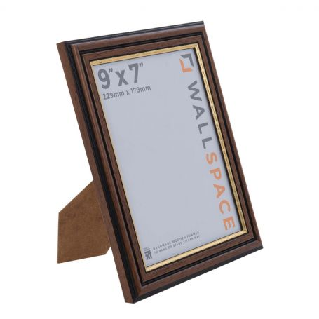 9 x 7 Traditional Brown Frame