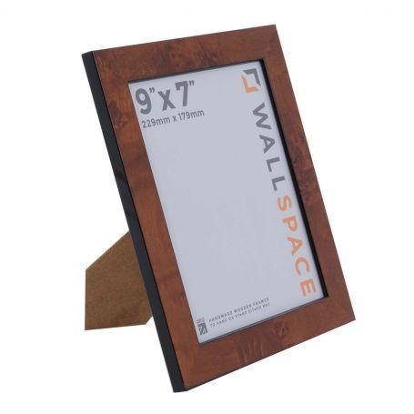 9 x 7 Gloss Walnut Photo Frames