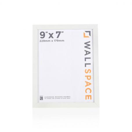 """9"""" x 7"""" - 15mm Matt White Photo Frame"""