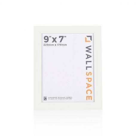 "9"" x 7"" - 25mm Smooth Matt White Photo Frame"