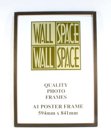 A1 Wooden Poster Frame - Brown Wood