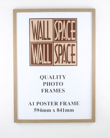 A1 Wooden Poster Frame - Light Wood