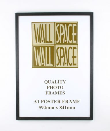A1 Wooden Poster Frame - Black Wood