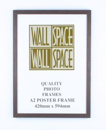 A2 Wooden Poster Frame - Brown Wood