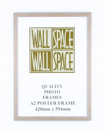A2 Wooden Poster Frame - Light Wood