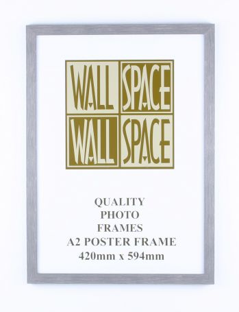 A2 Wooden Poster Frame - Grey Wood