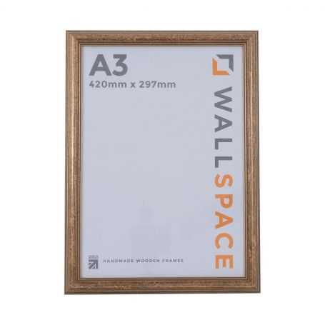 """16"""" x 12"""" - Speckled Gold Wooden Photo Frame"""