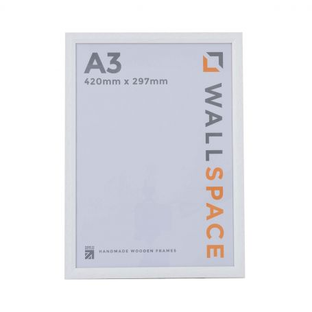 A3 Bevelled White Photo Frames