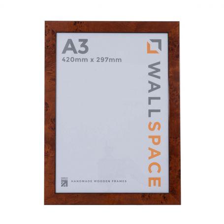 A3 Gloss Walnut Photo Frames