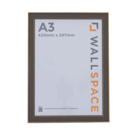 A3 - Vintage Shabby Chic Distressed Frame - Grey